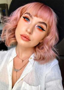 makeup_tips_for_rose_gold_hair_color